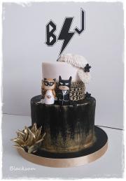 Torta Svadobná rockerská