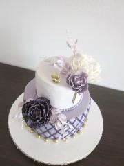 Torta Svadobná - vo fialovom