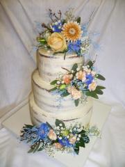 Torta Svadobná 163 nahá so živými kvetmi