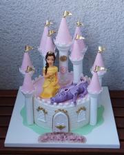 Torta Hrad s drakom a princeznou