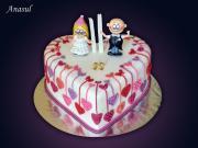 Torta svadobné srdiečko ( na želanie nevesty )