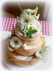 Torta Nahá s gerberami