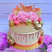 Torta Drip tortička zlatá