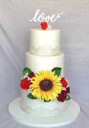 Torta Svadobná so slnečnicou