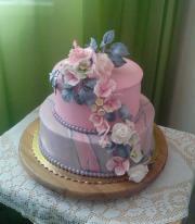 Torta Ružovo-strieborná