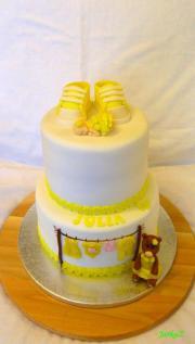 Torta Krstinová v žltom