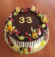 Torta Narodeninová drip torta