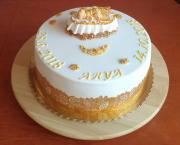 Torta Bielo-zlatá krstinová pre Arinku