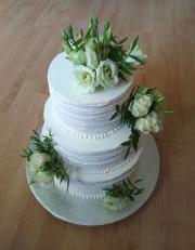 Torta Svadobná so živými kvetmi