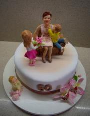 Torta vnúčatká blahoželajú babke