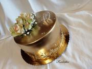 Torta Zlatá s ružami...