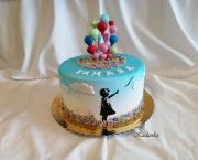 Torta Dievčatko s balónmi...