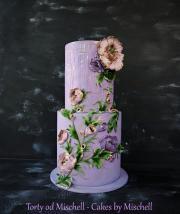 Torta Fialová kvetinová ...