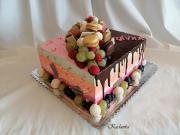Torta Drip krémová s ovocím...