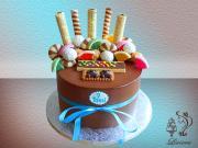 Torta čokoládová, narodeninová torta