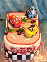 Torta Autodráha v tvare číslo 5