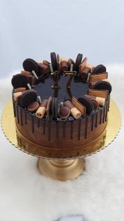 Torta Narodeninová - čokoládová
