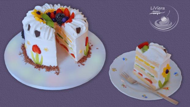Ovocná torta pre Dianku ❤️  - foto postup
