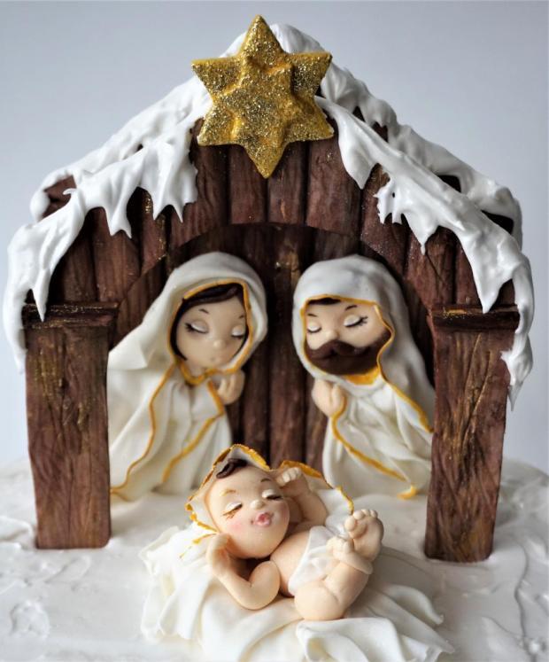 jednoduchý vianočný Betlehem 4
