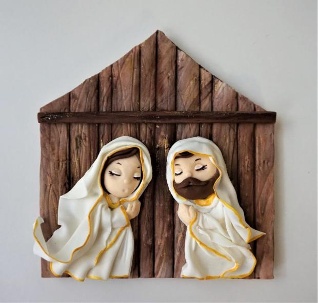 jednoduchý vianočný Betlehem 3