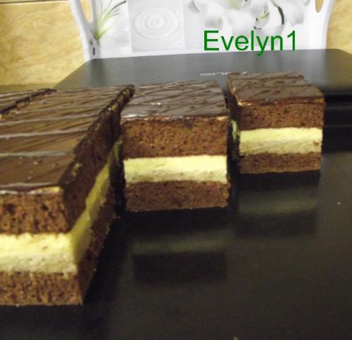 Orechovo  vanilkový rez - recept