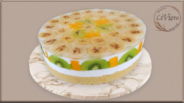 Želatínová torta s exotickým ovocím  2