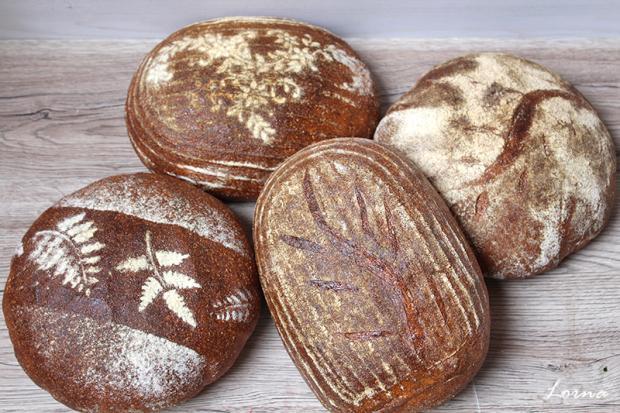 Špaldovo - ražný kváskový chlebík - recept postup 4