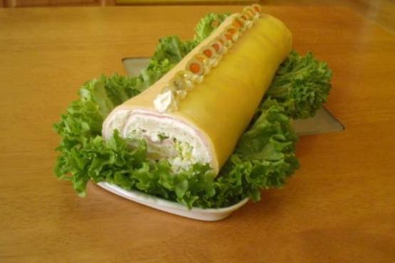 Chlebová roláda - recept postup 1