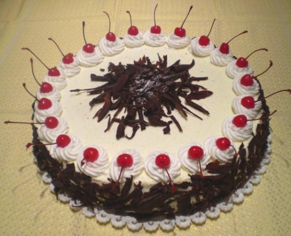Schwarzwaldská višňová torta - recept