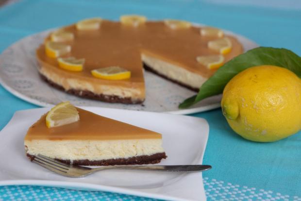 Citrónový cheesecake - recept postup 1