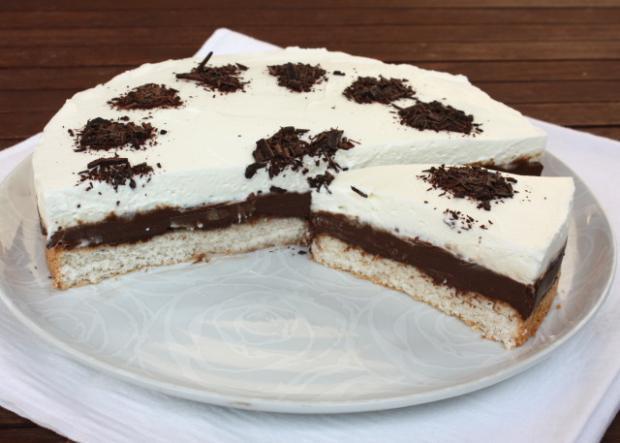 Čokoládovo kokosová torta - recept postup 16