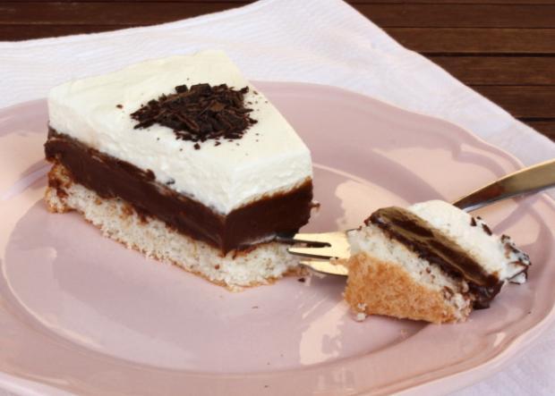 Čokoládovo kokosová torta - recept postup 17