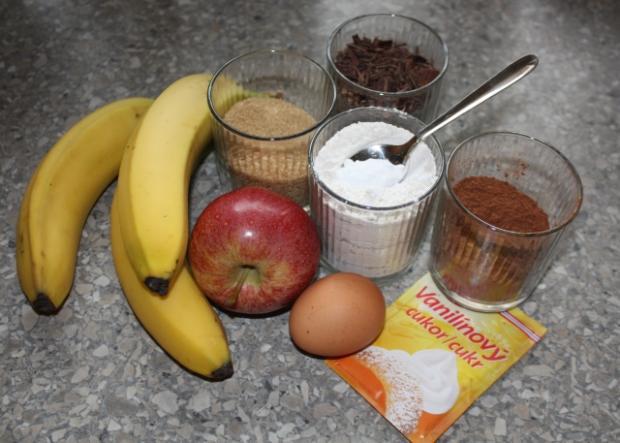 Čokoládová torta s banánmi - recept postup 1