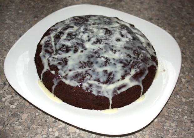 Čokoládová torta s banánmi - recept postup 8