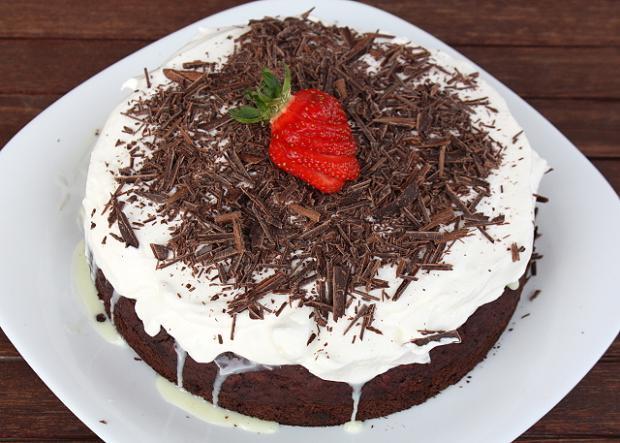 Čokoládová torta s banánmi - recept postup 9