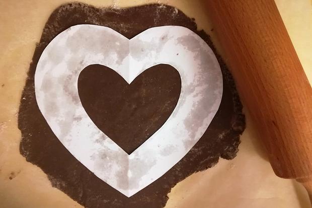 Čokoládová torta v tvare srdca - recept postup 2