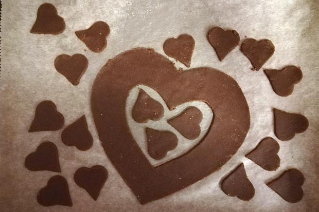 Čokoládová torta v tvare srdca - recept postup 3