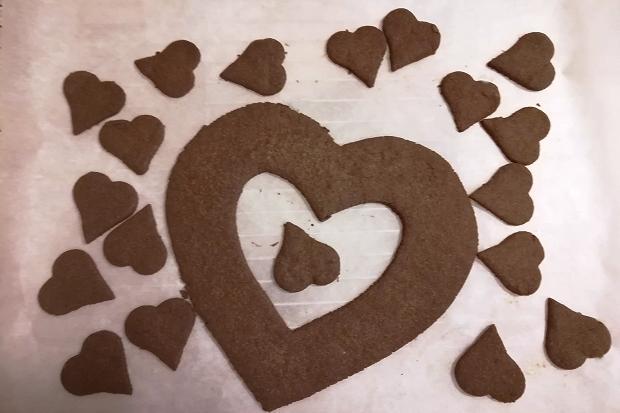 Čokoládová torta v tvare srdca - recept postup 4