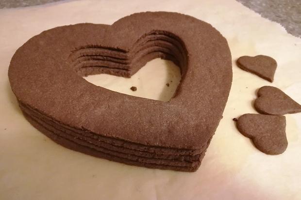 Čokoládová torta v tvare srdca - recept postup 5