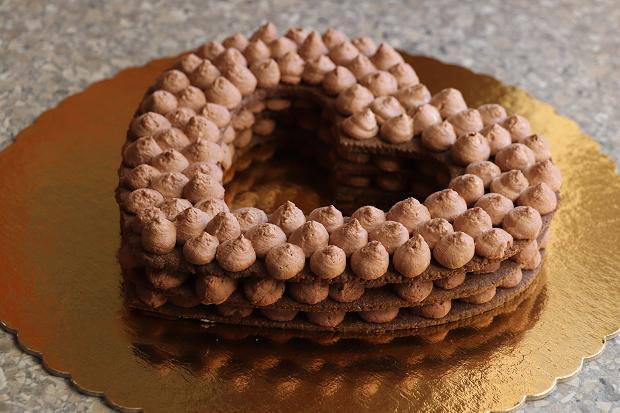Čokoládová torta v tvare srdca - recept postup 9