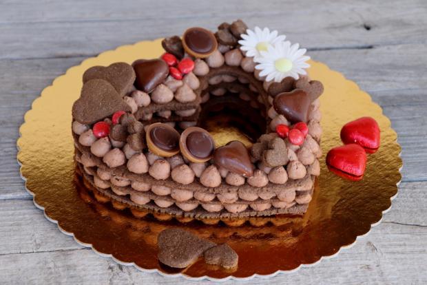 Čokoládová torta v tvare srdca, Autor: Kamila