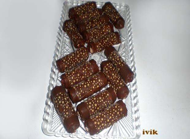 recept na Čokoládové trubičky s parížskym krémom, Autor: Ivik