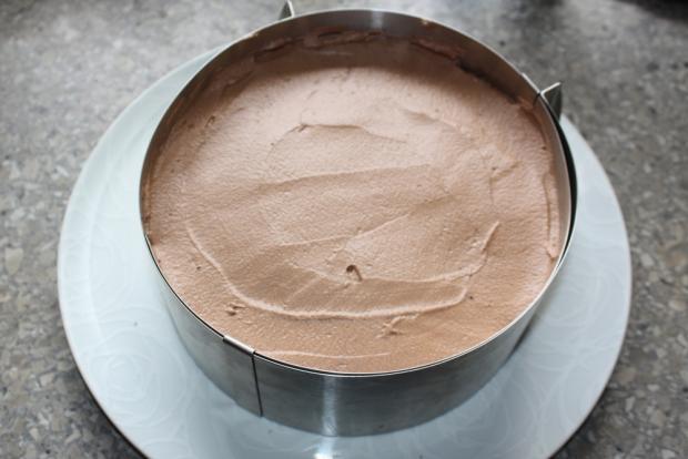 Čokoládovo jahodová torta bez múky - recept postup 9