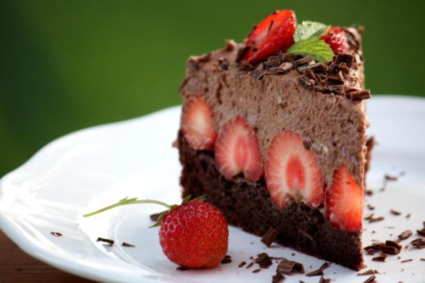 Čokoládovo jahodová torta bez múky - recept postup 12