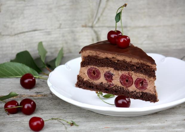 Čokoládovo višňová torta - recept postup 9