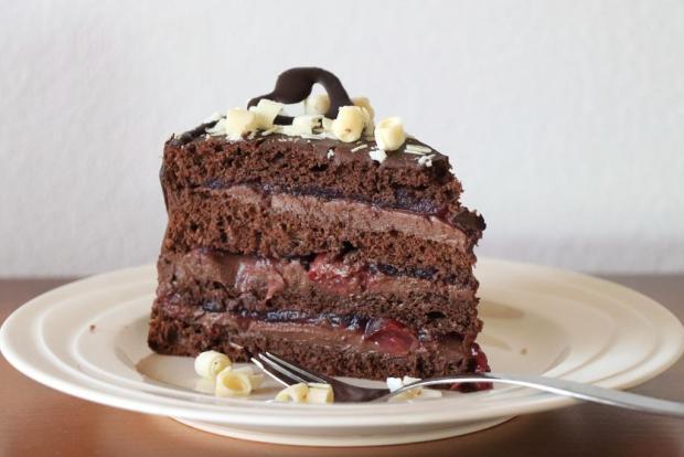 Čokoládová torta  s višňami - recept