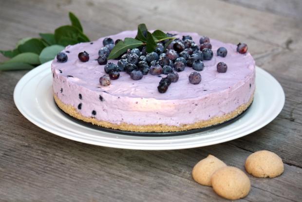 Nepečená čučoriedková torta - recept postup 12