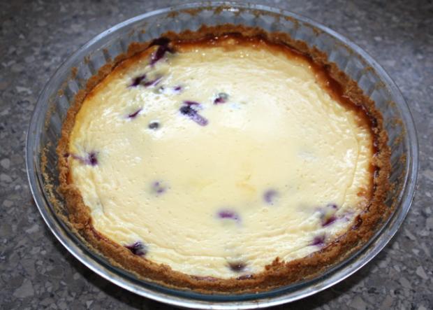 Čučoriedkový cheesecake - recept postup 6