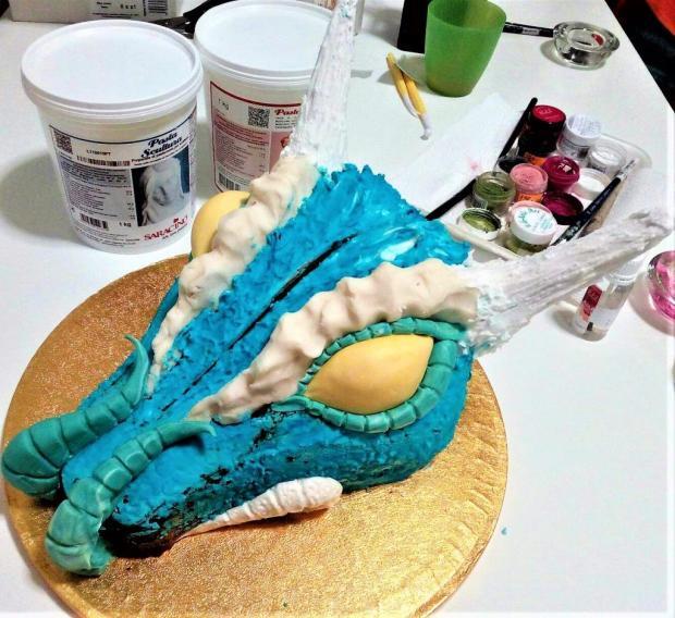 Drak - postup na tortu 7