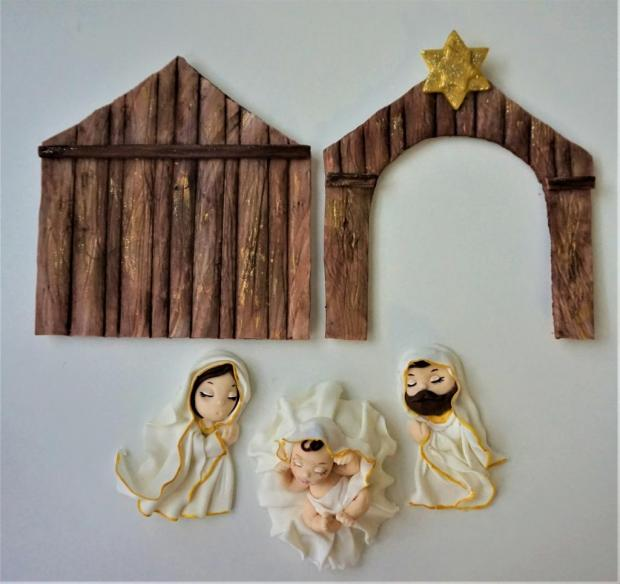 jednoduchý vianočný Betlehem 2